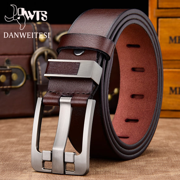 Mens' belt male high quality leather belt men male genuine leather strap luxury pin buckle fancy vintage jeans  MartLion