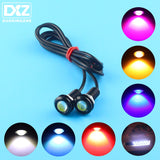 DXZ 1Pcs LED Eagle Eye Light DRL Daytime Running Strobe Fog Lights 9W 12V 24V 18MM 23MM Reversing Parking Signal Lamp Waterproof  MartLion