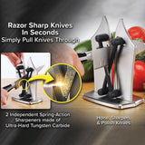 Diamond Knife Sharpener Professional Kitchen Sharpening Stone Grinder Knives Sharpening Tools Whetstone Knives Accessories  MartLion.com