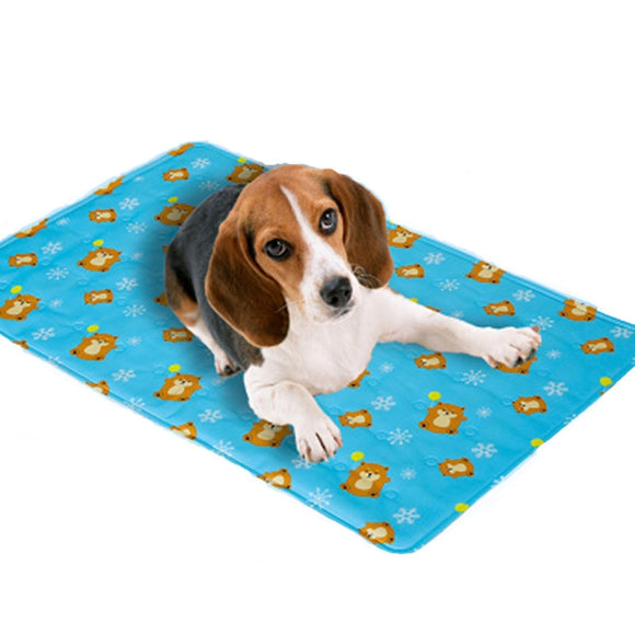 Dog Gel Cooling Mat Teddy Pet Ice Pad For Small Large Dog Summer Keep Cool Seat Cushion Mat Multifunctional Cat Sleeping Mat  MartLion.com