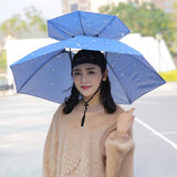 Double Layer Windproof 77cm Wearing an Umbrella Hat Outdoor UV Protection Fishing Umbrella Parasol Hat Amour Parapluie  MartLion