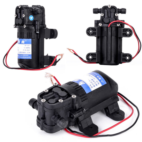 Durable DC 12V 70 PSI Agricultural Electric Water Pump Black Micro High Pressure Diaphragm Water Sprayer Pumps 3.5L / min  MartLion.com