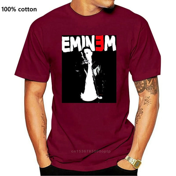 EMINEM THRESHOLD TOUR 2011 BLACK T-SHIRT NEW OFFICIAL RAP HIP HOP SLIM SHADY T Shirt Men Loose Size T Shirt TOP TEE PLUS SIZE