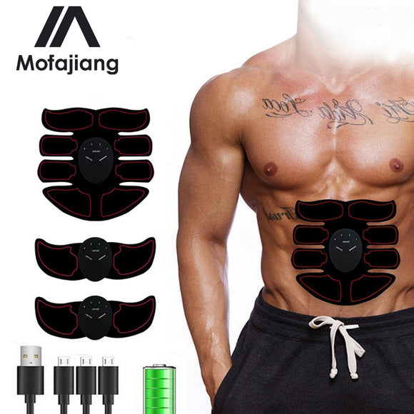 EMS Wireless Muscle Stimulator Trainer Smart Fitness Abdominal Training Electric Weight Loss Stickers Body Slimming Belt Unisex  MartLion.com
