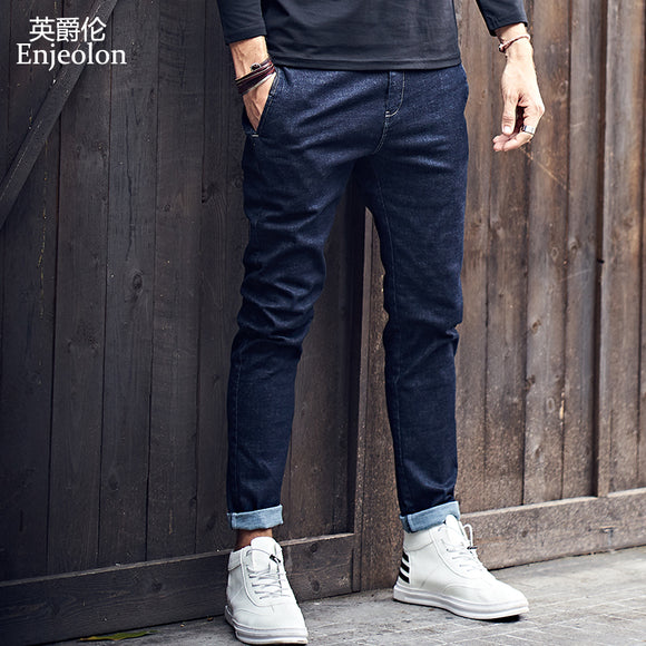 Enjeolon 2019 New Mens Jeans Brand Black Jeans Men Fashion Long Trousers Mens Denim Jeans Pants Clothes Plus Size KZ6141 - Mart Lion  Best shopping website