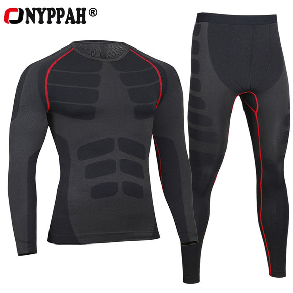 European compression Pants + Tops Men's Quick Dry Breathable Cool Feeling Mens Long Fitness Underwear Body Shaper  MartLion.com