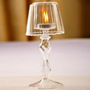 European-style Transparent Glass Table Lamp Shape Candle Holder Wedding Home Creative Decoration  MartLion