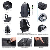 FEGER Laptop Backpack Waterproof school bags Anti Theft Bagpack USB Charge bookbags Travel shoulder bag for men women students  MartLion