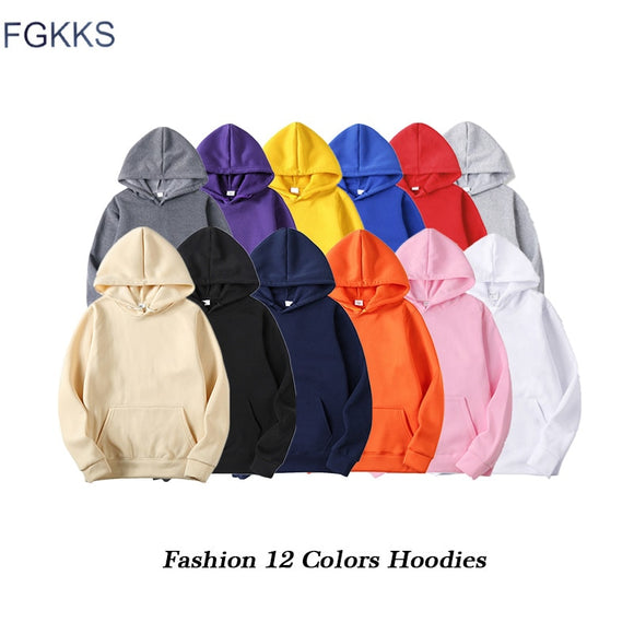 FGKKS Quality Brand Men Hoodie 2020 Autumn Hip Hop Streetwear Men Pullover Sweatshirts Hoodies Mens Solid Color Hoodie Male  MartLion