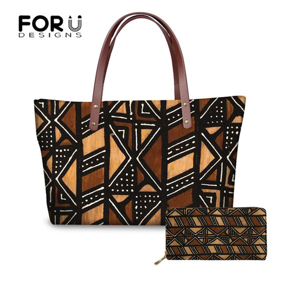 FORUDESIGNS Women's Handbags Top-handle Bags Vintage African Printing Ladies Purses and Handbags Tote Party Bags Bolsos Mujer - Mart Lion  Best shopping website