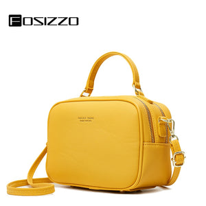 FOSIZZO Shoulder Bag PU Leather Bag Women 2020 Autumn Fashion Lightweight Bag For Women Soft Luxury Crossbody Women Bag FS5008-1  MartLion