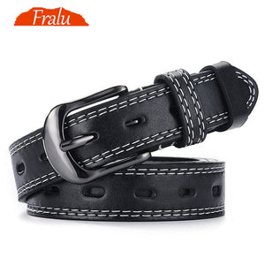 FRALU Pin Buckles Belt female deduction side gold buckle jeans wild belts for women fashion students simple New  MartLion