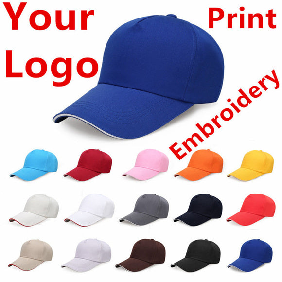 Factory Price! Free Custom LOGO Design Cheap Men Women Baseball Cap Embroidery Print Design Logo Text Photo Hat Gorras Snapback - Mart Lion  Best shopping website
