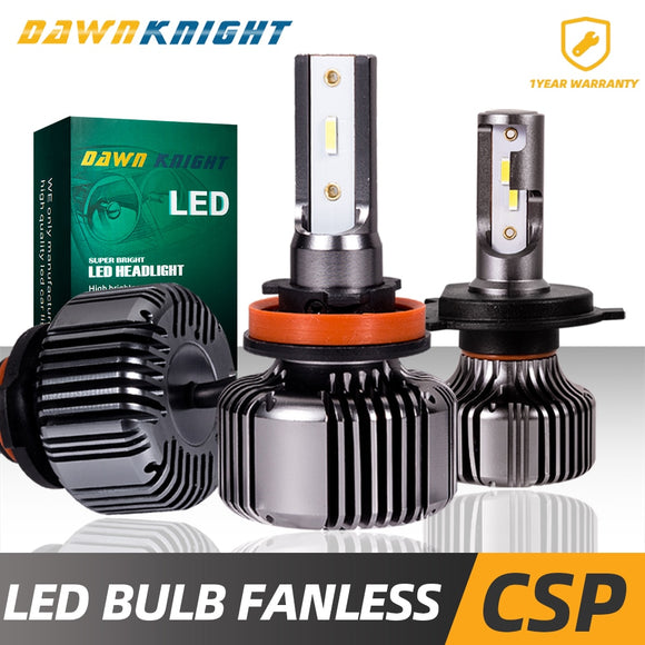 Fanless H4 Led Bulb H1 H7 H11 9005HB3 9006HB4 9012 H27 880 Passive Cooling H7 Led HeadLight 120000LM Mini Size Auto Led Lamp  MartLion