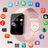 Fashion Smart Band Women Men Smartband For Android IOS Wristband Smart Bracelet Fitness Tracker Silicone Wrist Band Smart-band  MartLion.com
