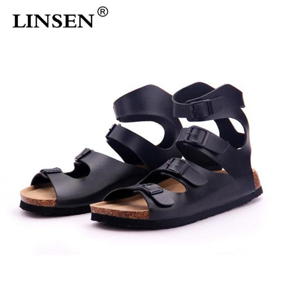 Fashion Unisex Double Buckle Cork Sandals Flat with 2019 New Lovers Summer Beach Patchwork Casual Slippers Shoe Size 35-43 hot