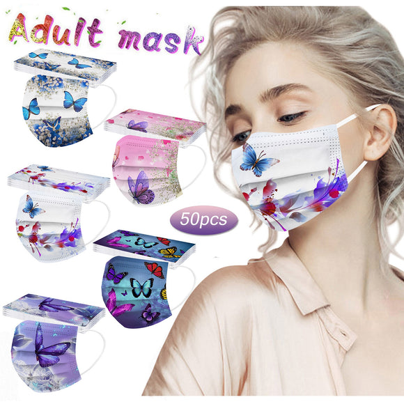 Fast Delivery Within 24 Hours Máscara 50PCS Adult Butterfly Disposable Protection Three Layer Breathable Face Mask Bandage