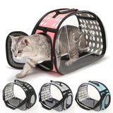 Foldable Cat Carrier Bags Pet Dog Carriers Cat Backpack Travel Space Capsule Cage Portable Cat Bag Carrying For Pet Transport  MartLion