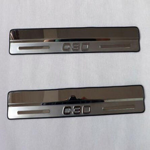 Free Shipping for Volvo C30 Door Sill Scuff Plates Stainless Steel  Welcome Pedal Car Styling Accessories 2pcs/set  MartLion