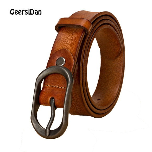 GEERSIDAN 2019 pin buckle Luxury Designer Belt for women High Quality brand cowskin genuine Leather Women waist Strap for Jeans - Mart Lion  Best shopping website
