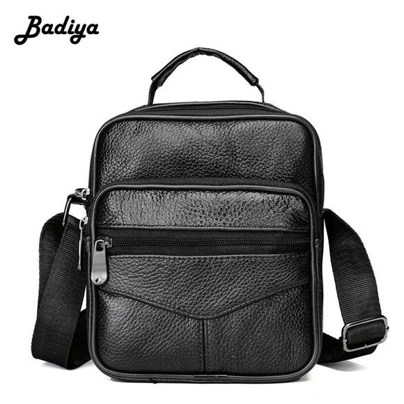 Genuine Cow Leather Male's Crossbody Bag Casual Business Men's Messenger Bag Luxury Big Man Bags Zipper Shoulder Handbags Gift