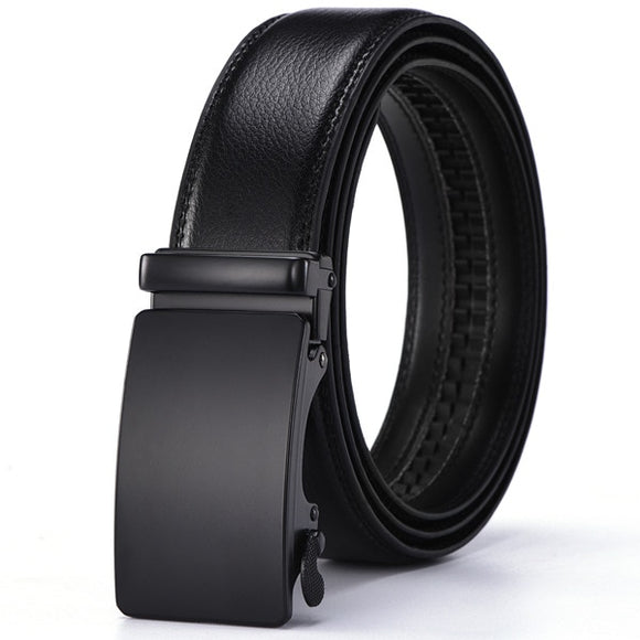 Genuine Leather Belts for Men Automatic Male Belts Cummerbunds Men Dropshipping Black Belts Cinturon Hombre Casual Adult