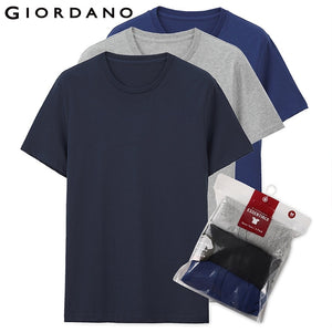 Giordano Men T Shirt Men Short Sleeves 3-pack Tshirt Men Solid Cotton Mens Tee Summer T Shirt Men Clothing Sous Vetement Homme - Mart Lion  Best shopping website