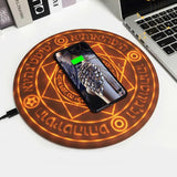 Glowing Magic Circle 10W Qi Fast Charging Pad Wireless Phone Charger for iPhone Samsung Huawei Xiaomi Quick Charger for Phone  MartLion