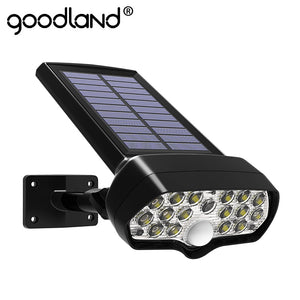 Goodland LED Solar Light Shark PIR Motion Sensor Solar Lamp Waterproof Solar Powered Spotlight for Outdoor Garden Wall Lamp  MartLion
