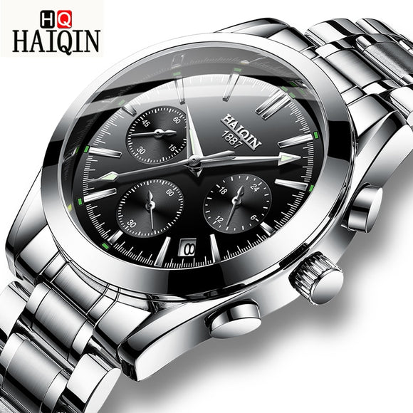 HAIQIN Men's Watches Business/Military/Chronograph Watch Men Wristwatch Top Brand Luxury Wrist Watch Male Relogio Masculino New  MartLion.com
