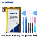 HSABAT 1900mAh Battery for iphone 3GS Replace batteries bateria batteries for iphone3gs  MartLion