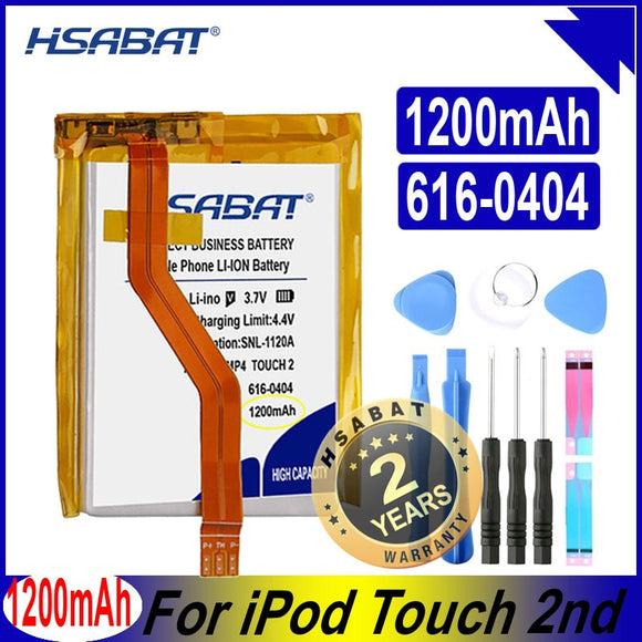 HSABAT 616-0404 1200mAh Battery for iPod Touch 2 2nd Gen 2G 8GB 16GB 32GB Batteries  MartLion