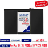 HSABAT A1395 7430mAh Battery For iPad 2 A1395 A1396 A1397 A1376 A1316 Batteries  MartLion
