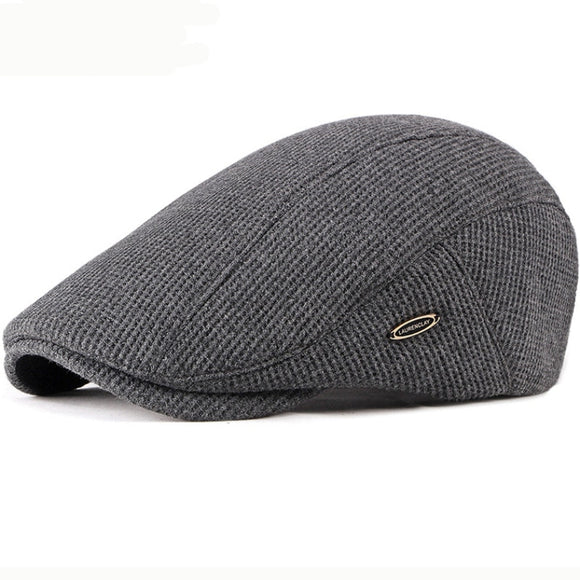 HT2646 Beret Cap New Autumn Winter Hat Caps for Men Women Adjustable Ivy Newsboy Flat Cap High Quality Solid Knitted Hat Berets