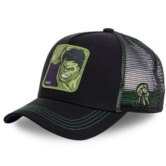 HULK Mesh Cap Anime Patch Dad hat Trucker baseball cap Snapback Men and women Summer breathable outdoor leisure caps  MartLion