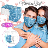 Headband 50PCS Adult mask Love Heart Disposable Protection Three Layer Breathable Face Mask mascara protectora máscara бандана#  MartLion