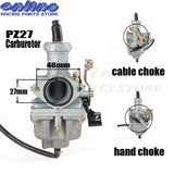 High Performance PZ27 27mm Carburetor Carb motorcycle pump accelerator Carburettor CG XL 125 150 175 hand choke/cable choke