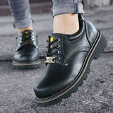 High Quality Men Casual Shoes New Genuine Leather Flat Shoes Men outdoor breathable Oxford Fashion Lace Up Men's Shoes  MartLion