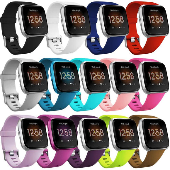 High Quality Soft Silicone Secure Adjustable Band For Fitbit Versa/Versa Lite Band Wristband Strap Bracelet Fit Bit Watch Straps  MartLion.com