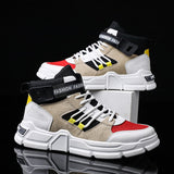 High Top Men Sport Shoes Trend Outdoor Running Shoes for Men Fitness High Quality Men Sneakers Hard-Wearing Damping tennis shoes  MartLion
