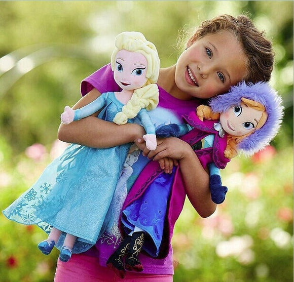 Hot fashion Original Unique Gifts high quality Sweet Cute Girls Toys Princess Anna and Elsa Doll Pelucia Boneca Plush elsa  MartLion