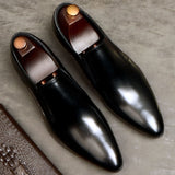 Italian Men's Penny Loafers Black Wine Red Khaki Genuine Leather Wedding Party Casual Men Dress Shoes Oxford Fashion Male Flats  MartLion