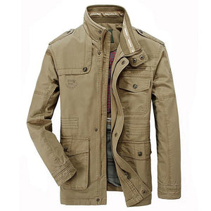 Jacket Men Causal Cotton Windbreaker Jackets Mens Military Outwear Flight Jacket Plus Size 7XL Men's Slim Trench