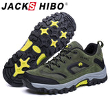 Jackshibo Hiking Upstream Shoes Boots For Men Outdoor Mountain Climbing Sports Sneakers Trekking Tourism Boots Camping Shoes  MartLion