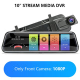 Jansite 10-inch Touch Screen 1080P Car DVR stream media Dash camera Dual Lens Video Recorder Rearview mirror 1080p Backup camera  MartLion