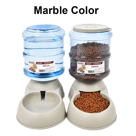 KAIRUISEN Plastic Pet Dog And Dog Automatic Feeding Machine Marble Color Automatic Water Dispenser 3.75L Large Capacity - Mart Lion  Best shopping website