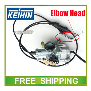 KEIHIN 30mm carburetor with accelerating pump accelerator racing zongshen ttr 150cc 200cc 250cc carburetor dual throttle cable  MartLion