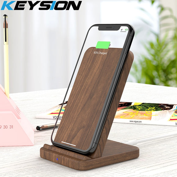 KEYSION 10W Qi Fast Wireless Charger For iPhone XR XS Max 8plus Wireless Charging stand for Samsung S10 S9 S8 Xiaomi Mi 9 Mix 3
