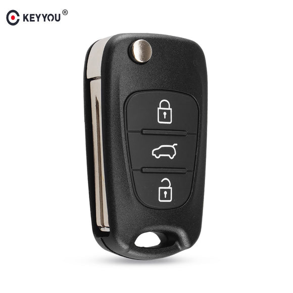KEYYOU New Remote Key Shell For Hyundai I20 I30 IX35 I35 Accent Kia Picanto Sportage K5 3 Buttons Flip Folding Remote Key Case  MartLion
