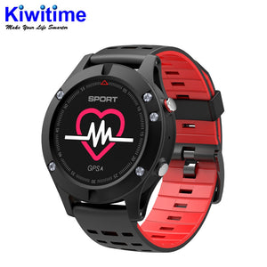 KIWITIME F5 GPS Smart watch Altimeter Barometer Thermometer Bluetooth 4.2 Smartwatch Wearable devices for iOS Android  MartLion.com